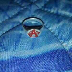 Anarchy Silver Ring Size 6
